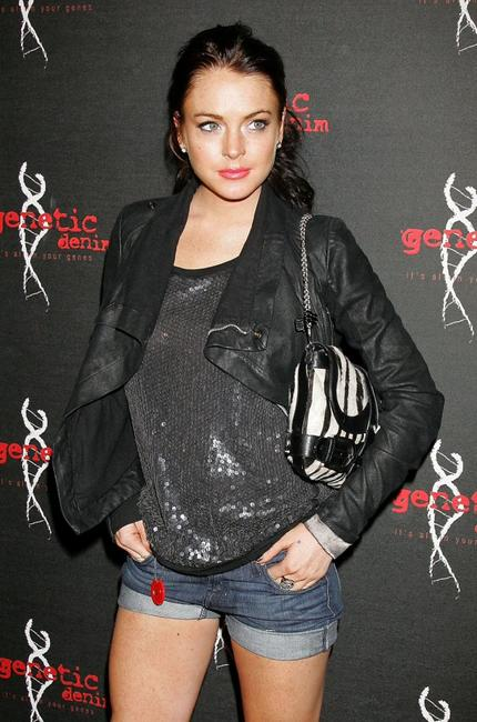 Lindsay Lohan at the Genetic Denim's one-year anniversary.
