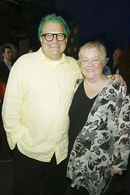 Drew Carey and Kathy Kinney at the WB Network's 2004 All Star Summer Party.