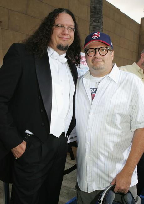 Penn Jillette and Drew Carey at the Los Angeles premiere of
