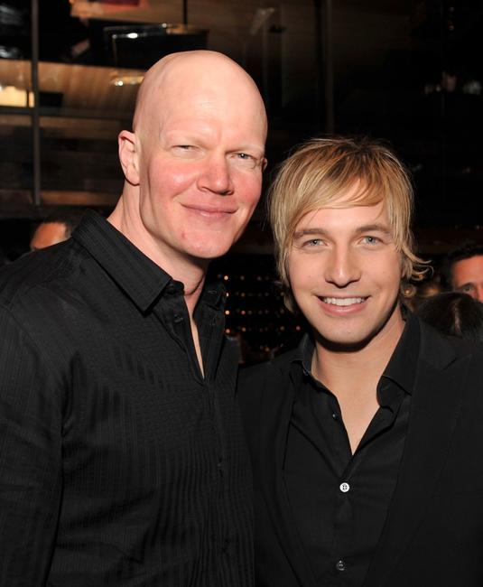 Derek Mears and Ryan Hanson at the Los Angeles premiere of