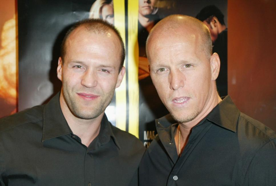 Jason Statham and Jim Wahlberg at the premiere of