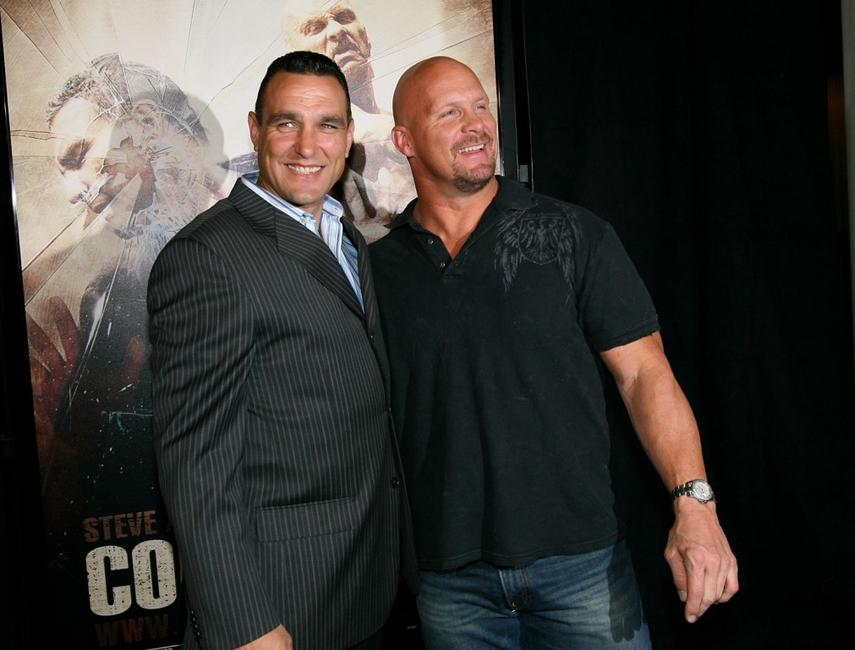 Vinnie Jones and Steve Austin at the special screening of