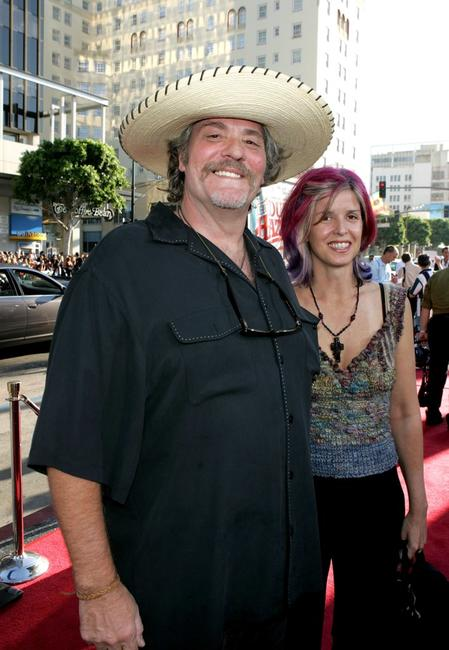 M.C. Gainey and guest at the premiere of