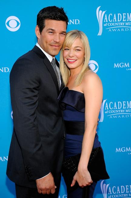 Eddie Cibrian and LeAnn Rimes at the 45th Annual Academy of Country Music Awards.