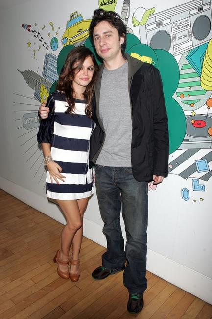 Rachel Bilson and Zach Braff at the MTV's Total Request Live.