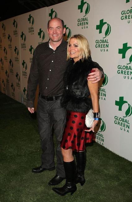 David Koechner and Guest at the Global Green USA's 6th Annual Pre-Oscar Party.