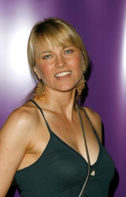 Lucy Lawless at the 2007 Comic-Con press panel.