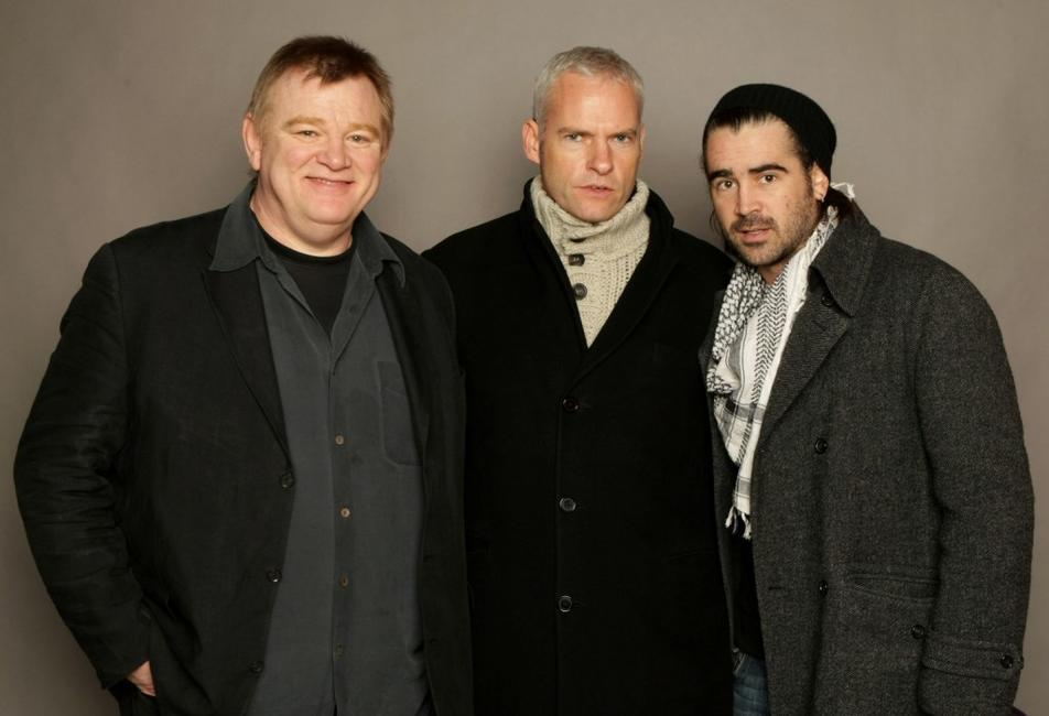 Brendan Gleeson, Martin McDonagh and Colin Farrell at the