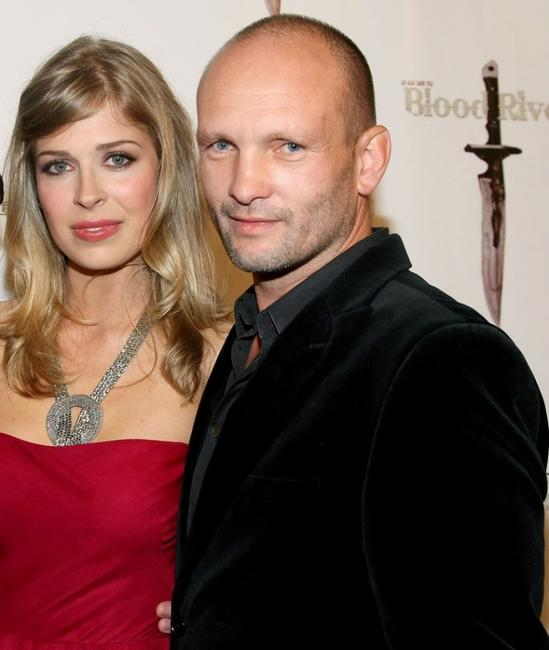Tess Panzer and Andrew Howard at the premiere of
