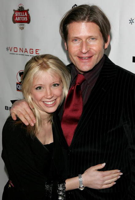 Courtney Peldon and Crispin Glover at the 2006 Sundance Film Festival.