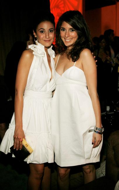 Emmanuelle Chriqui and Jamie-Lynn DiScala at the after party for the premiere of
