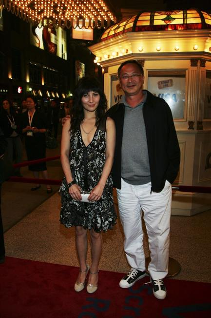 Josie Ho and Johnnie To at the premiere of