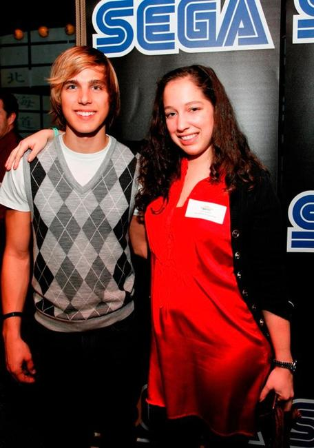 Cody Linley and Jyll Saskin at the SEGA Launch of