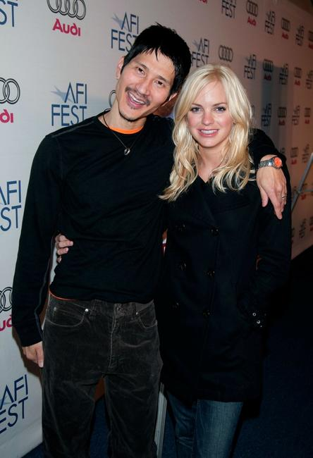 Gregg Araki and Anna Faris at the 2007 Sundance Film Festival.