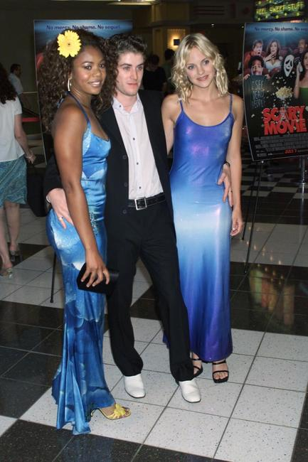 Regina Hall, Jon Abrahams and Anna Faris at the premiere of