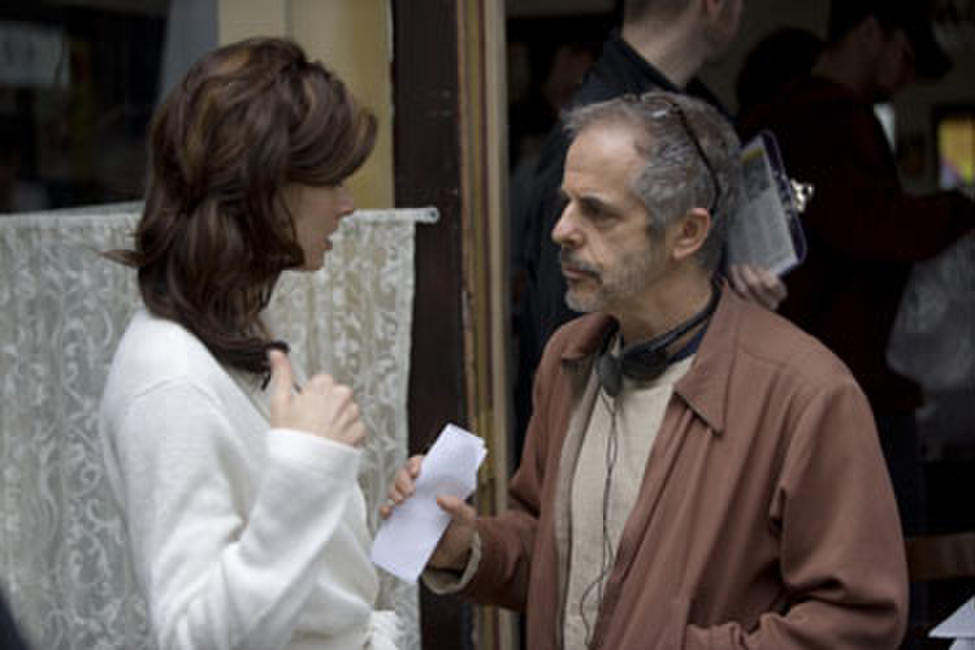 Bridget Moynahan and director Henry Bean on the set of