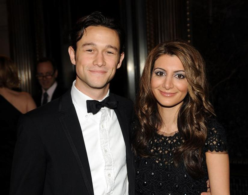Joseph Gordon-Levitt and Nasim Pedrad at the American Museum of Natural History.