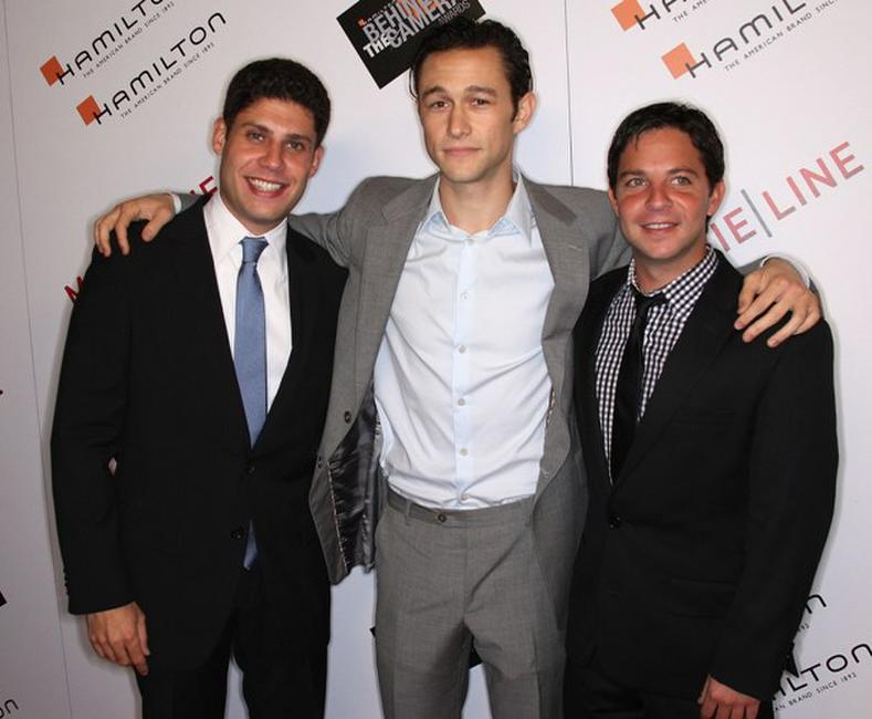 Michael H. Weber, Joseph Gordon-Levitt and Scott Neustadter at the Hamilton Behind the Camera Awards.