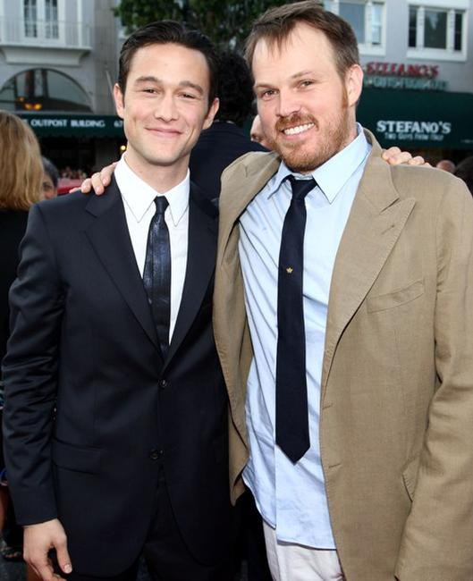 Joseph Gordon-Levitt and director Marc Webb at the premiere of