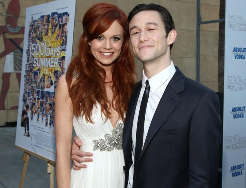 Rachel Boston and Joseph Gordon-Levitt at the premiere of