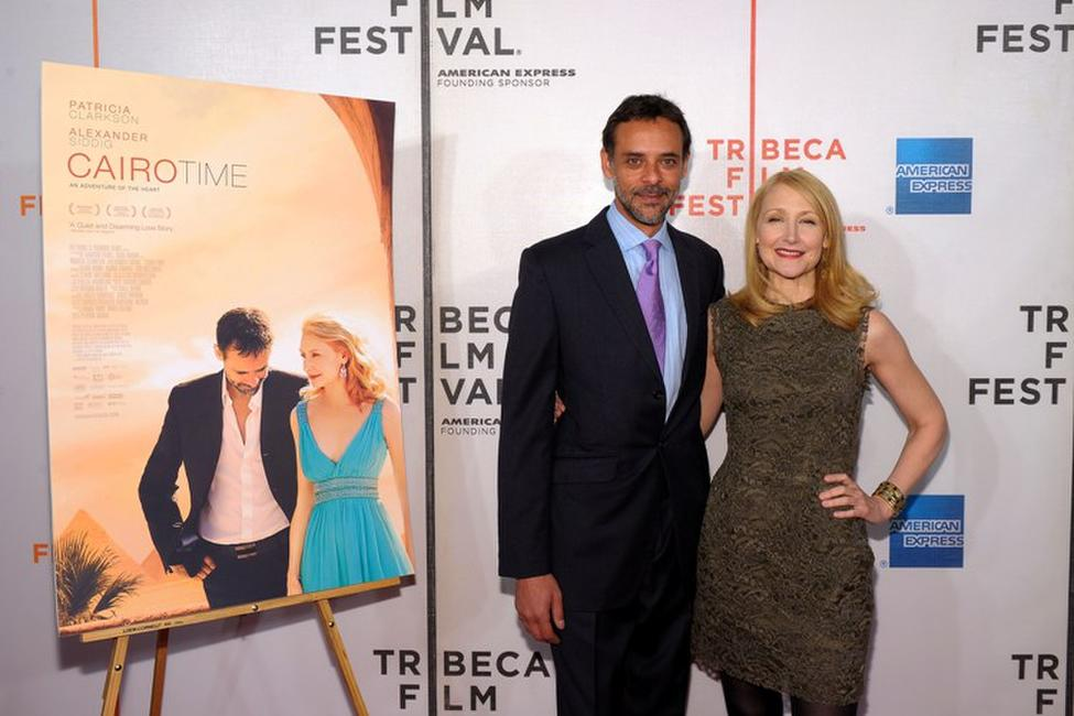 Alexander Siddig and Patricia Clarkson at the premiere of