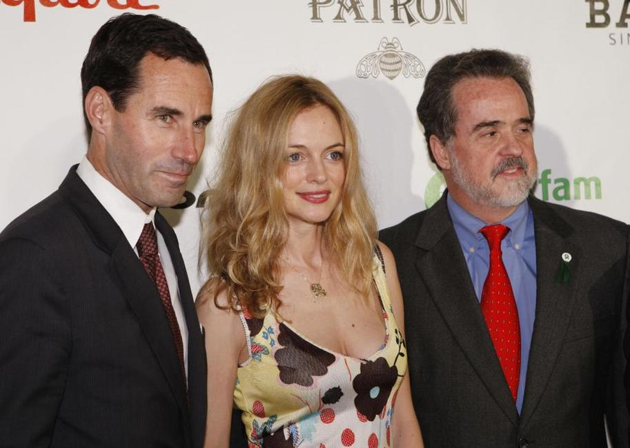 Heather Graham, Raymond Offenheiser and Kevin O'Malley at the Oxfam Event Honoring Sean Penn and Emile Hirsch for their movie