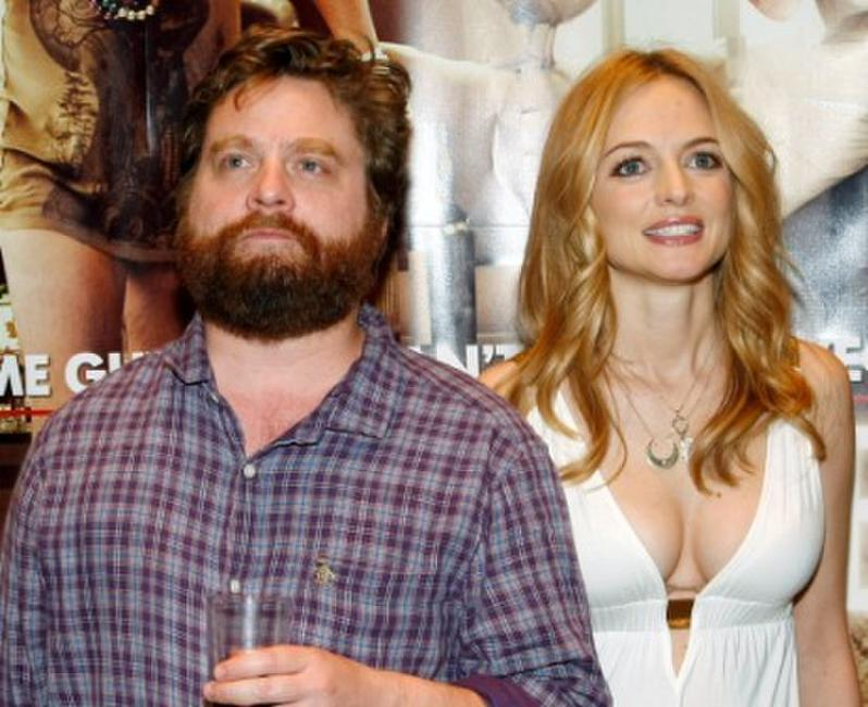 Zach Galifianakis and Heather Graham at the