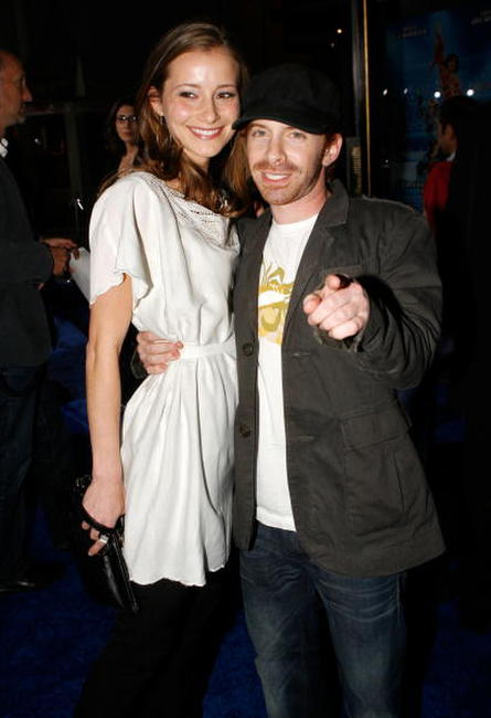 Seth Green and Candice Bailey at the premiere of