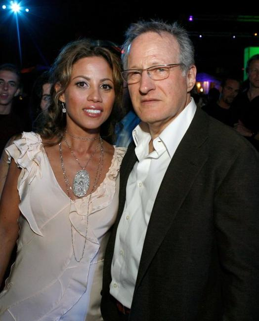Elizabeth Rodriguez and Michael Mann at the after party of the premiere of