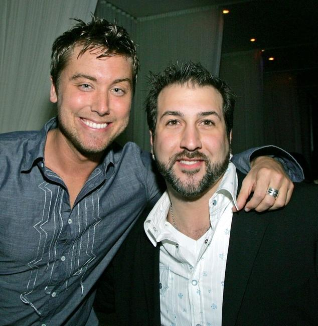 Lance Bass and Joey Fatone at the after party of the premiere of