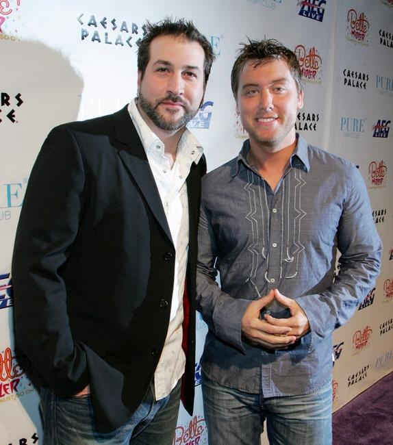 Joey Fatone and Lance Bass at the after party of the premiere of