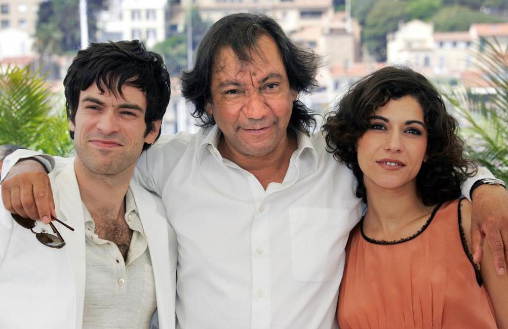 Romain Duris, director Tony Gatlif and Lubna Azabal at the photocall of