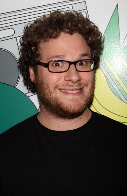 Seth Rogen backstage during MTV's Total Request Live at the MTV Times Square Studios.