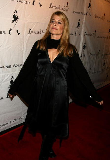 Linda Hamilton at the Johnnie Walker Dressed to Kilt 2006 fashion show during the Mercedes Benz Fashion Week - backstage.