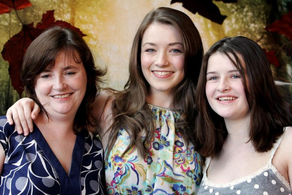 Monica Bolger, Sarah Bolger and Emma Bolger at the Australian premiere of