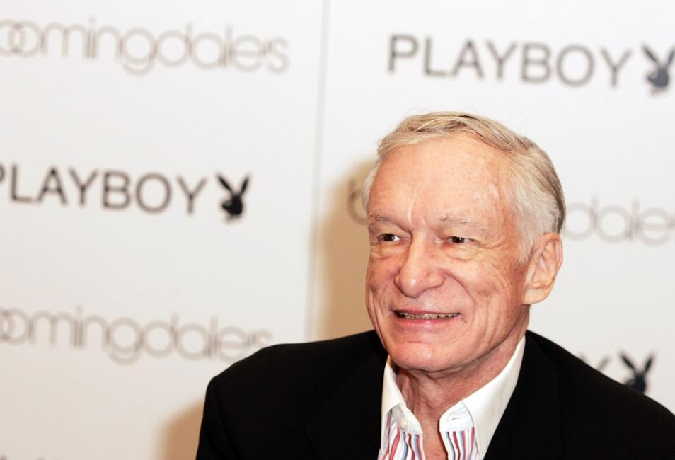 Hugh Hefner at the launch of City Nights Playboy Menswear Collection.