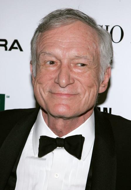Hugh Hefner at the 21st Annual American Cinematheque Award honoring George Clooney.