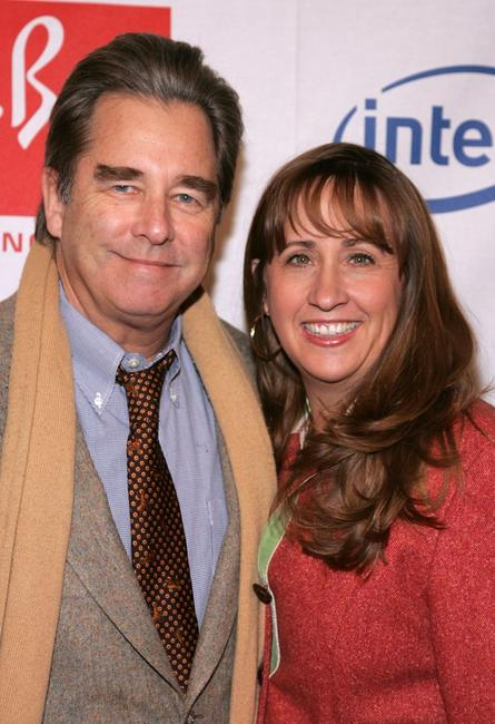Beau Bridges and wife Wendy Bridges at the Hollywood Entertainment Museum Annual Awards.