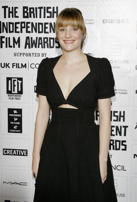 Romola Garai attends the British Independent Film Awards in London, England.