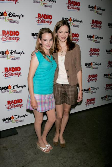 Kay Panabaker and her sister Danielle Panabaker at the Radio Disney Totally 10 Birthday Concert.