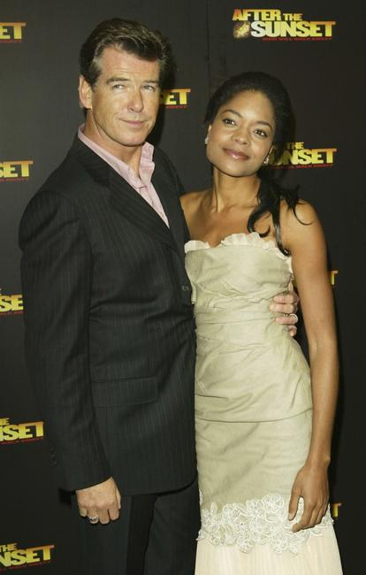 Pierce Brosnan and Naomie Harris at the premiere of