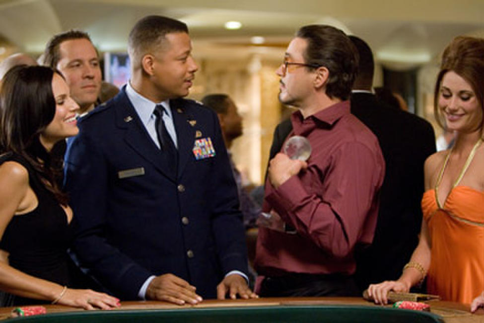 Terrence Howard and Robert Downey Jr. in