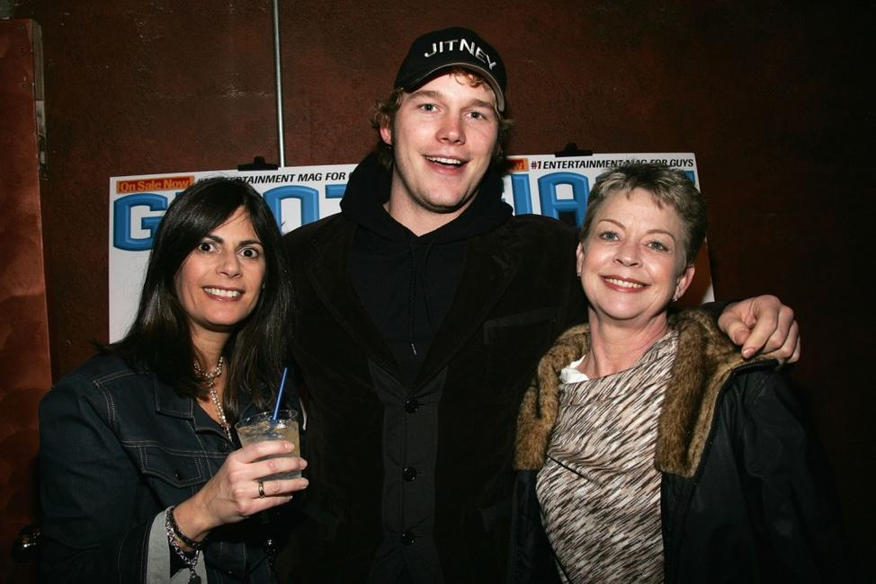 Valerie Schaer, Chris Pratt and Guest at the Sundance party of