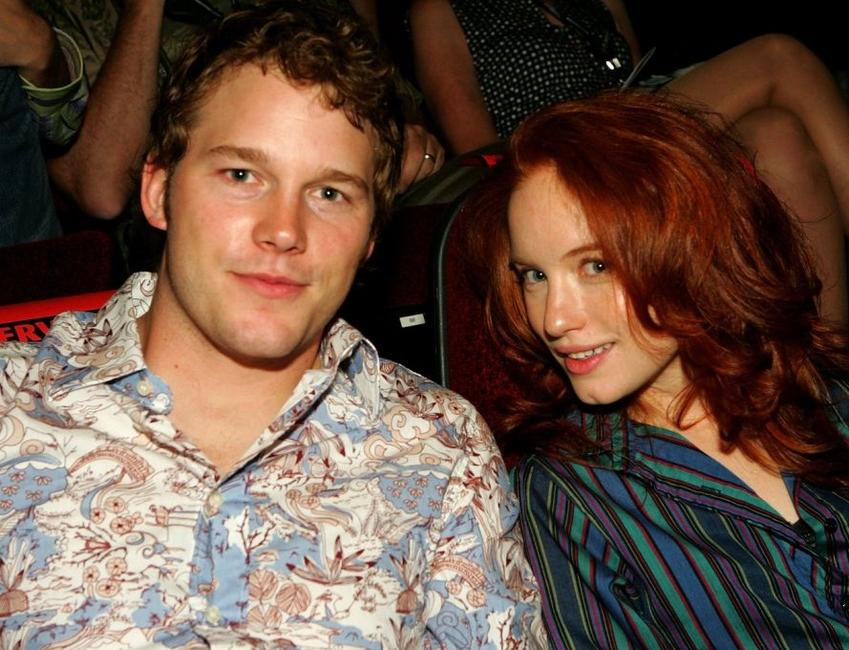 Chris Pratt and Maria Thayer at the opening night of