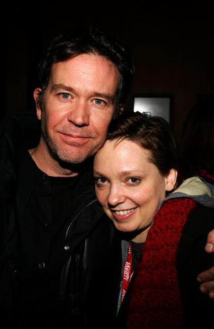Timothy Hutton and Hilary Brougher at the Cinetic Media Party at the Sundance Film Festival.