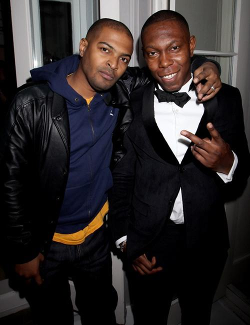 Noel Clarke and Dizzee Rascal at the after party of the premiere of