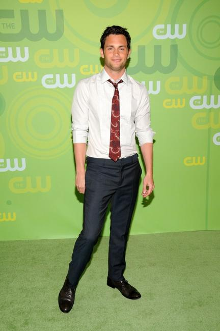 Penn Badgley at the CW Network's Upfront.