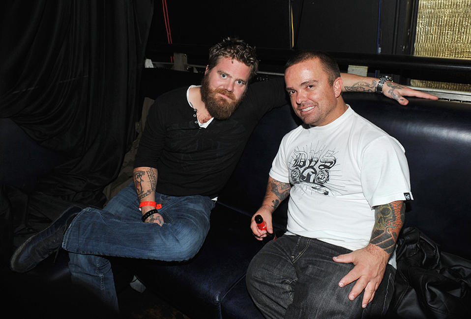 Ryan Dunn and Jason 'Wee Man' Acuna at the after party of