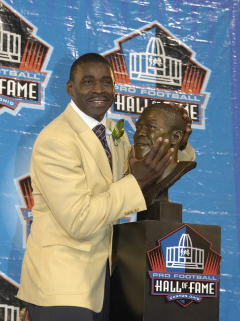 Michael Irvin at the Class of 2007 Pro Football Hall of Fame Enshrinement Ceremony.