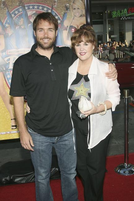 Will Forte and his Mother at the premiere of